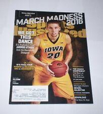 2016 Sports Illustrated JARROD UTHOFF Iowa Hawkeyes basketball REGIONAL cover !