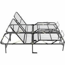 Full Size Bed Frame Base Adjustable Head And Foot Platform Folding Box Spring