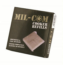 8 X SOLID FUEL HEXAMINE HEXI ARMY MILITARY TOMMY COOKER STOVE REFILL TABLETS