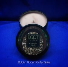 ROOT TIN FILLED TRAVEL CANDLE CORIANDER MUSK MADE IN USA
