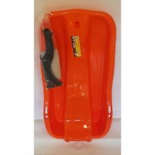 Kinder Bob Race Schlitten orange -schwarz mit Bremse und Zugseil