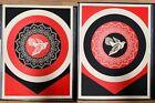 Shepard Fairey Obey Giant PEACE DOVE Matching Set #325/325 Screen Prints RARE