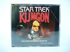 STAR TREK KLINGON complete jewel case PC game with manual