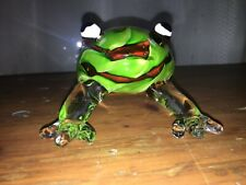 Murano Style Large Art Glass Frog Ornament/ Paperweight 15.8 cm Long