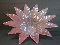 "Lavorazione Arte Murano Art Glass Large Centerpiece/Bowl 19"" Pink/Amethyst Mint!"