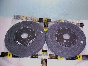 Ferrari 458 Front Brake Rotor Discs_Carbon Fiber Ceramic_Hub_251858_274234_OEM