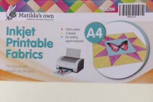 A4 Inkjet Printable Fabric