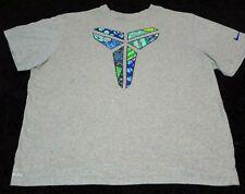 Nike Kobe Bryant  Dri-Fit Shirt Men Sz 3XL Black Mamba Logo Gray Grey Multicolor