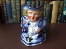 Antique Original Decorative Unmarked Pottery Toby Jugs