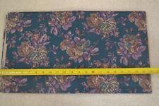 By 1/2 Yd, Brown & Purple on Dark-Teal Quilting Cotton, RJR/Jinny Beyer, D766