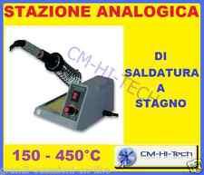 STAZIONE ANALOGICA DI SALDATURA SALDATRICE A STAGNO 48W TEMPERATURA REGOLABILE !