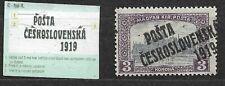 Czechoslovakia, Posta 1919 Mi. 135, overprint type II.