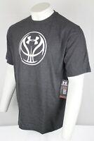 Under Armour Men's Heat Gear Loose Basketball Short Sleeve T Shirt Gray 1237593
