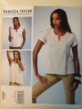 Vogue Pattern V1306 Size XS-S-M Rebecca Taylor Top And Tunic Uncut