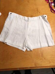 $80 Women's   shorts white linen P200 CCC