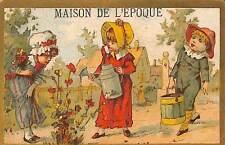 "CHROMO "" GRANDE MAISON DE L' EPOQUE "" ETOFFES POUR ROBES LOURADOUR PARIS"