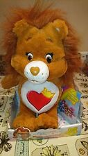 """MINT NIB Brave Heart Lion 13"""" Plush Care Bear Cousin with DVD 2016 Just Play"""