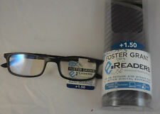 Foster Grant Kramer eReaders Advanced Reading Glasses +1.50 w/ Case Black