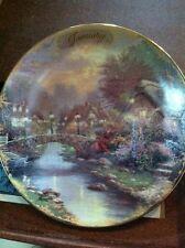 "Thomas Kinkade Simpler Times Limited Set of 12 Mini Plates 5-3/4"" With COA"