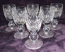 WATERFORD CRYSTAL BOYNE LIQUEUR / CORDIAL GLASSES SET OF SIX