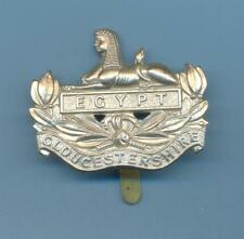 GLOUCESTERSHIRE REGIMENT.WHITE METAL ARMY CAP BADGE