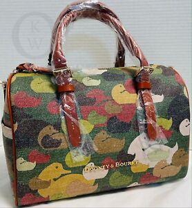 NWT*Dooney & Bourke*Camouflage Duck*Olivia*Satchel#16290G