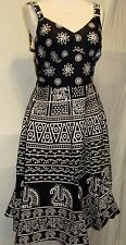 beautiful Summer cotton  Casual Sleeveless  Dress fit to size 42