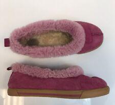 Ugg Women's Pink Rylan Suede Fuzzy Sheepskin Slippers Sz US 11