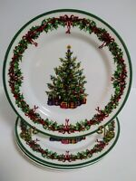 "Set of 4 Traditions Holiday Celebrations Christopher Radko 8 1/4"" Salad Plates"