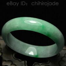 Certified Natural Emerald Green Jadeite Jade Bangle Bracelet Handmade