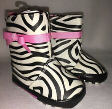 NEW Specially Baby Zebra Print  Baby Infant Crib Shoes Boots size 3