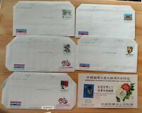 China Taiwan Stamped Envelopes 5 pieces New + one postal Card