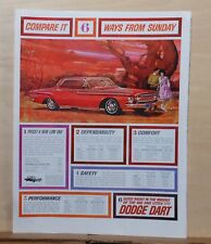 1962 magazine ad for Dodge - red Dart, Compare 6 ways from Sunday