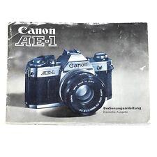 Canon AE-1 Bedienungsanleitung / Instruction Manual deutsch vom Händler