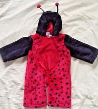 Ladybug Baby Halloween Costume Full Body Hood Red Black 12 Month Celebration Inc