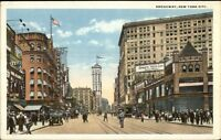 New York City Broadway c1920 Postcard