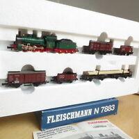 Fleischmann 7883 N 7-teiliges Güterzug-Set mit Dampflok G 4.3, Die alten Preußen