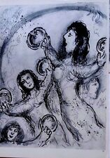 Marc Chagall offset lithograph Bible  paris maeght 1960 original  2 sided 116