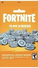 25000 Fortnite Vbucks Card