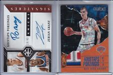 2X LOT 2016-17 KRISTAPS PORZINGIS 18/49 ROOKIE AUTO RC + PATCH 4 COLOR PRIZM /25