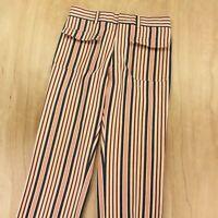 vtg 60s 70s men's striped denim hippie pants 33 x 31 patch front pockets jeans