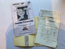 Sandra Bernhard Concert Contract Signed Comedy 1995 Pittsburgh