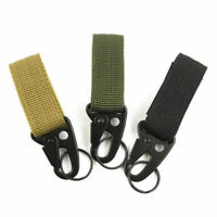 Tactical Molle Hanging Belt H&K Snap Hook Outdoor Key Carabiner Clip Buckle