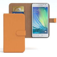 Tasche für Samsung Galaxy A5 (2015) Case Wallet Schutz Hülle Cover Orange