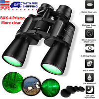 180x100 Zoom Day Night Vision Outdoor Travel Binoculars Hunting Telescope+4xCase