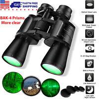 180x100 Zoom Day Night Vision Outdoor Travel Binoculars Hunting Telescope+4xCase