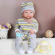 IVITA 48cm Silicone Rebirth Baby Hair Doll Girl Newborn Accompany Xmas Gift