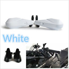 2 Pcs White Racing Motorcycle ATV Street Bike 22mm Handlebar Handguard Protector