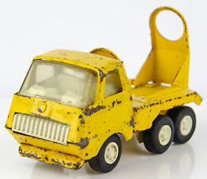"Vintage 1970s Tonka Pressed Steel 5"" Yellow Mini Cement Mixer"