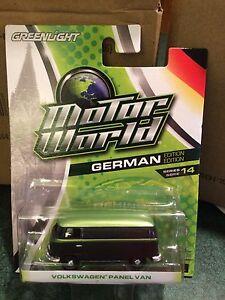 Greenlight MOTOR WORLD Series 14 Volkswagen Panel Van.   Green & Black